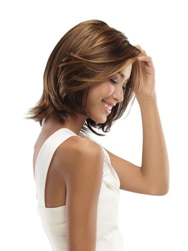 Lace Front Nice Wavy Synthetic Medium Wigs