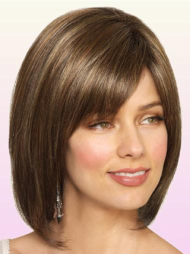 Great Monofilament Straight Chin Length Lace Wigs