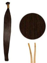 Beautiful Auburn Synthetic Stick-I Tip Hair Extensions