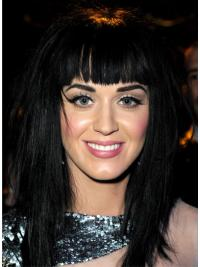 Style Black Lace Front Long Katy Perry Wigs