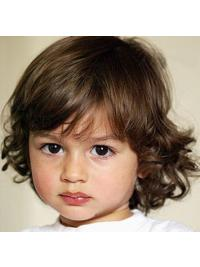 Fashionable Blonde Curly Chin Length Kids Wigs