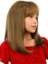 Good Blonde Straight Shoulder Length Kids Wigs