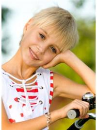 Unique Blonde Straight Short Kids Wigs