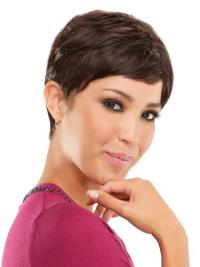 Perfect Brown Straight Cropped Celebrity Wigs