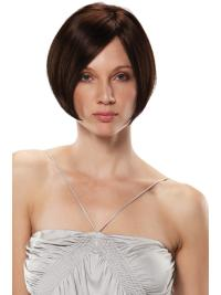 Sleek Monofilament Bobs Straight Short Wigs