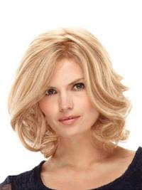 Blonde Wavy Synthetic Fabulous Medium Wigs