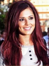 Shining Red Straight Long Cheryl Cole Wigs