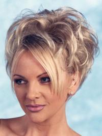 Blonde Curly Short Human Hair Wigs & Half Wigs