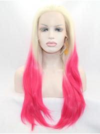 """26"""" Straight Ombre/2 Tone Layered Synthetic Lace Front Long Wigs"""