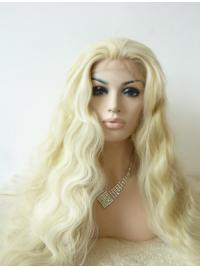"""Without Bangs 29"""" Curly Blonde Long Lace Front Synthetic Wigs"""
