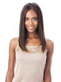Cool Auburn Wavy Shoulder Length Lace Wigs